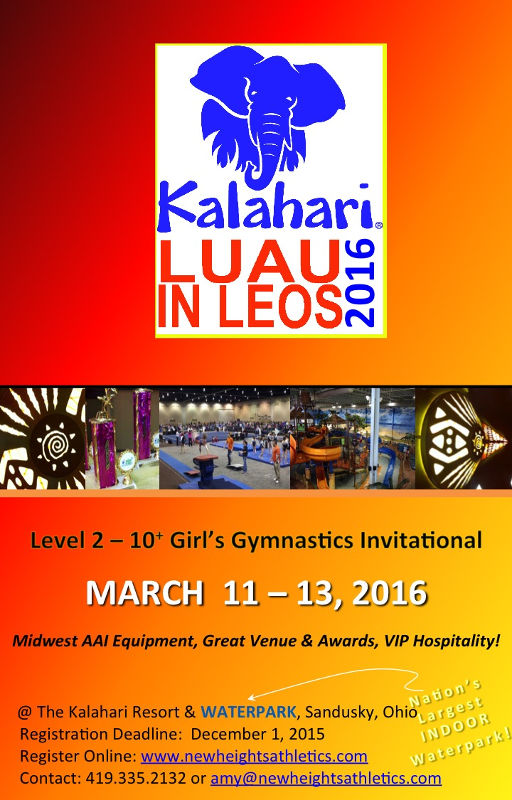 2014 luau in leos gymnastics meet schedule